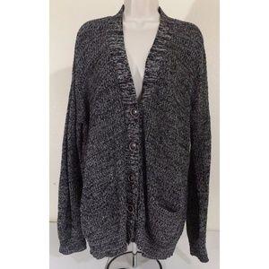 Gray Cotton Blend  Slinky Knit Cardigan